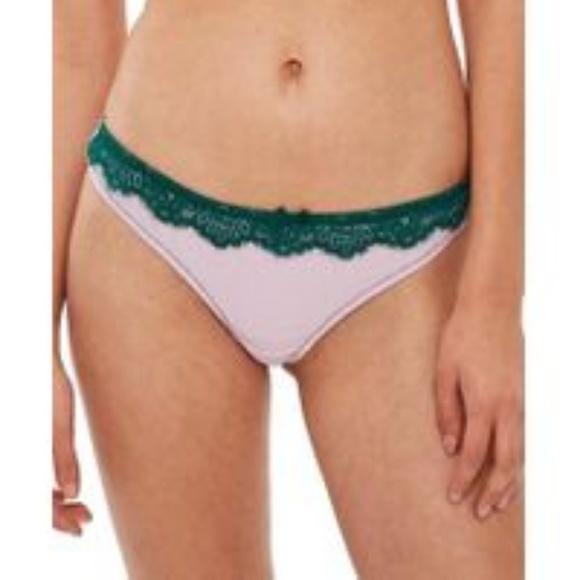 30bf9f73557f55 Topshop Intimates & Sleepwear | Nwot Lavender Satin Lace Thong 12 ...